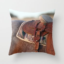 Saddle Throw Pillow