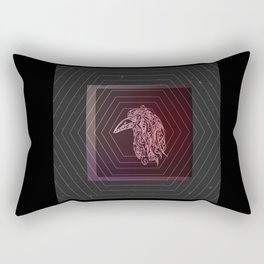 Tribal Raven: Red Rectangular Pillow