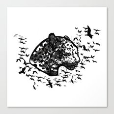 Forest leopard Canvas Print