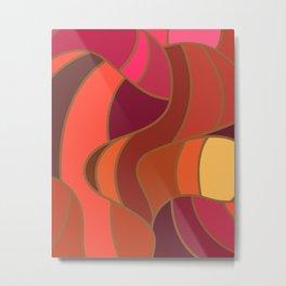 Rekindle Pattern Design Abstract Metal Print