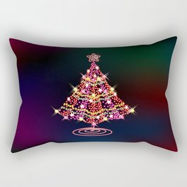 Glittering Christmas Tree Rectangular Pillow