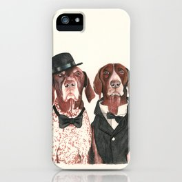 german short hair pointers - F.I.P. @ifitwags (The pointer brothers) iPhone Case