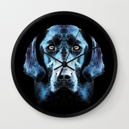 Hunter - Black Lab Art By Sharon Cummings Wall Clock