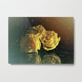 """La Rosa Amarilla"" Yellow Rose  Metal Print"