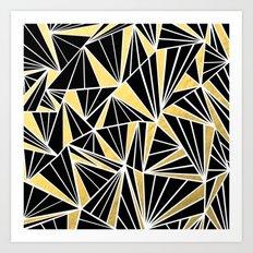 Ab Fan Zoom Gold Art Print