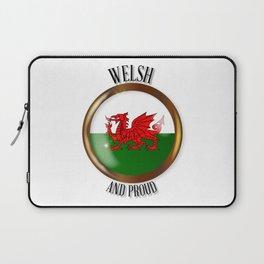 Welsh Proud Flag Button Laptop Sleeve