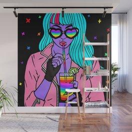 FLUO--GIRL Wall Mural
