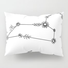 Leo Floral Zodiac  Constellation Pillow Sham