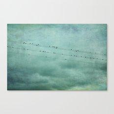 Birds on Wires Canvas Print