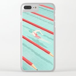 Swimming on art Clear iPhone Case