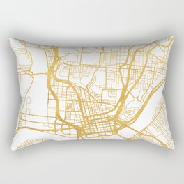 CINCINNATI OHIO CITY STREET MAP ART Rectangular Pillow