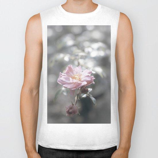 Pink Rose - Flower Floral Roses Biker Tank