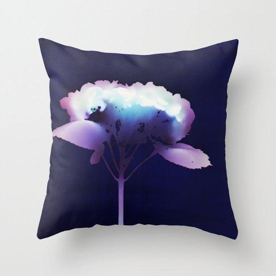 Photogram - Hydrangea II Throw Pillow