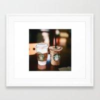 starbucks Framed Art Prints featuring Starbucks Coffee  by Sara Eshak