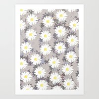 daisies Art Prints featuring Daisies by Georgiana Paraschiv
