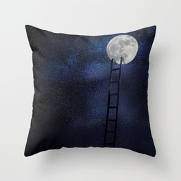 Moon up Throw Pillow