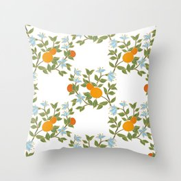 Andalusian oranges Throw Pillow