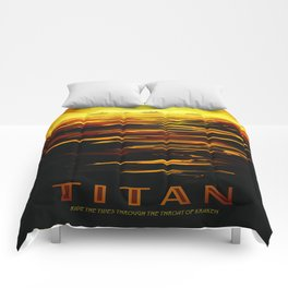 Titan : NASA Retro Solar System Travel Posters Comforters