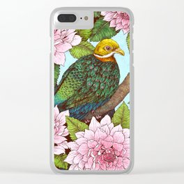 Whistling Fruit Dove in Spring Clear iPhone Case