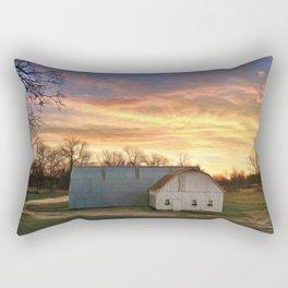 Barn Morning Sky Rectangular Pillow