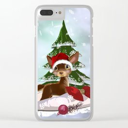 Christmas Present Clear iPhone Case