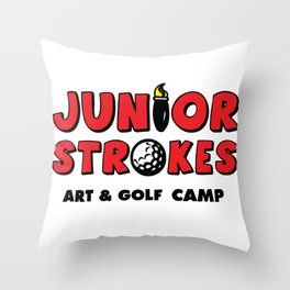 Junior Strokes Camp Throw Pillow