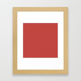 Cheapest Solid Cherry Red Color Framed Art Print
