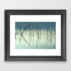 Blue Graphics Framed Art Print