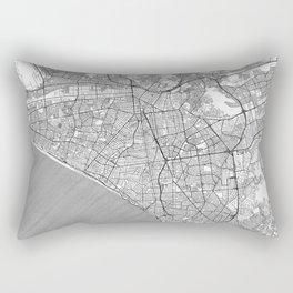 Lima Map Line Rectangular Pillow