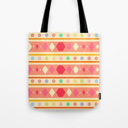 Happy Tribal Pattern Tote Bag