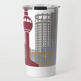 Jeddah skyline poster Travel Mug