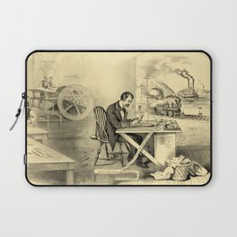 The Progress of the Century (Currier & Ives) Laptop Sleeve