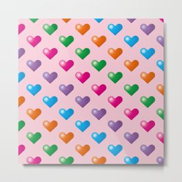 Hearts_F03 Metal Print