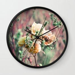 Flowers on Lomochrome Film Wall Clock