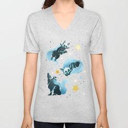Cosmic Wolf Unisex V-Neck