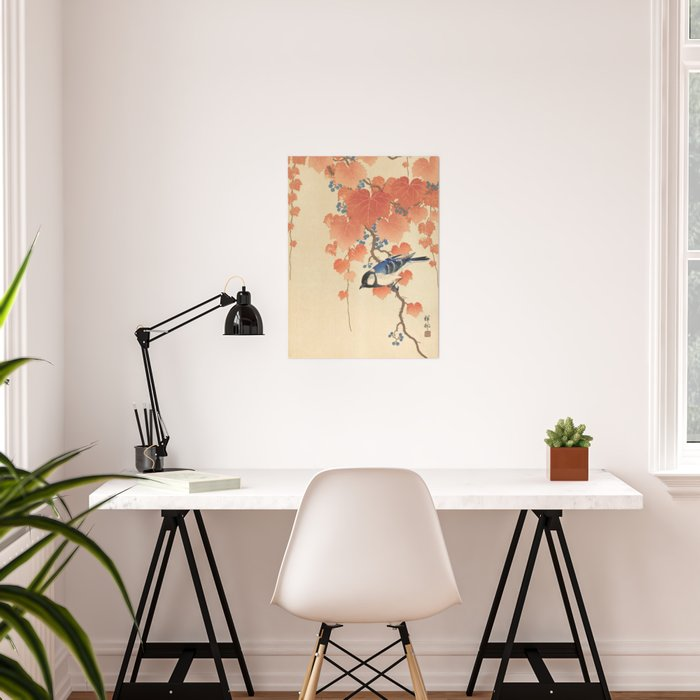 Ohara Koson - Japanese Bird Blockprint Poster