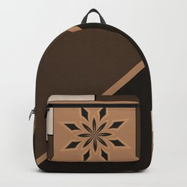 Monochrome Abstract Floral Backpack