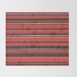 Red and Chocolate Brown Stripes Throw Blanket
