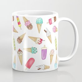 Scattered Ice Creams and Ice Lollies Coffee Mug