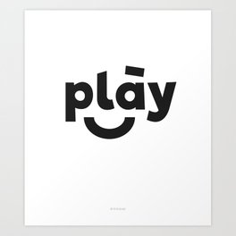 Play Kids  Art Print