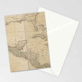 Map of the West Indies by Sayer & Jefferys (circa 1760) Stationery Cards