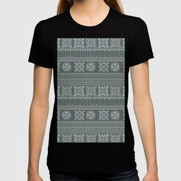 Knitted christmas pattern T-shirt
