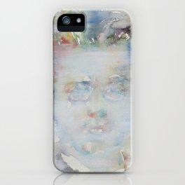 GUSTAV MAHLER - watercolor portrait iPhone Case