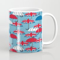 uk Mugs featuring UK Umbrellas by Matt Andrews
