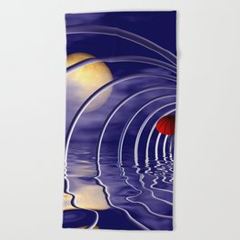 it's time to go -01- Beach Towel