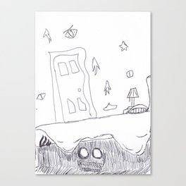 Monster Under the Bed Canvas Print