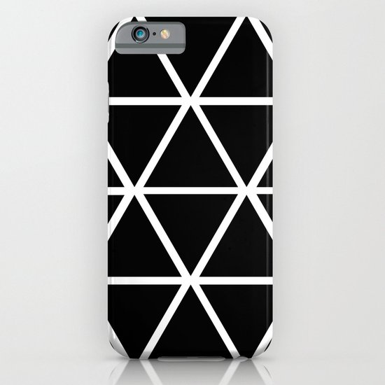 BLACK & WHITE TRIANGLES 2 iPhone & iPod Case