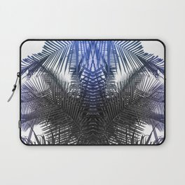 Blue and Gray fern Laptop Sleeve