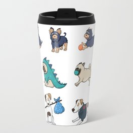 Puppy Pattern Travel Mug