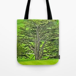 Old English Tree Tote Bag